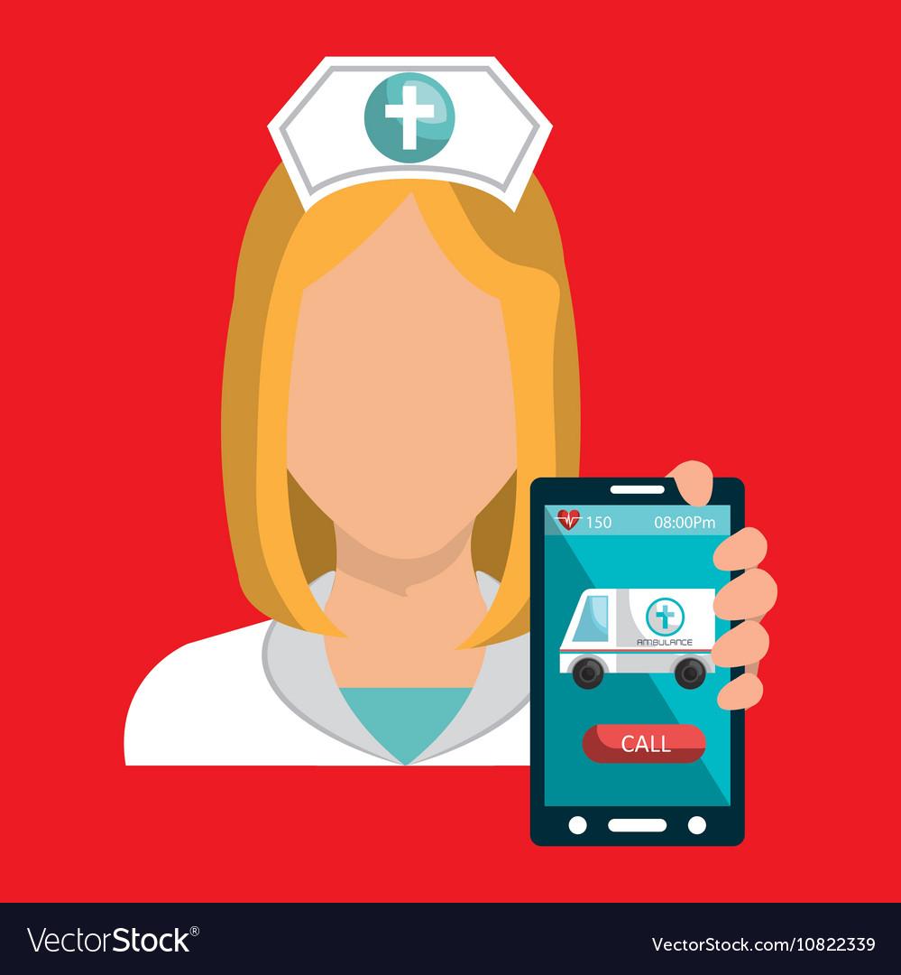 Nurse smartphone care health