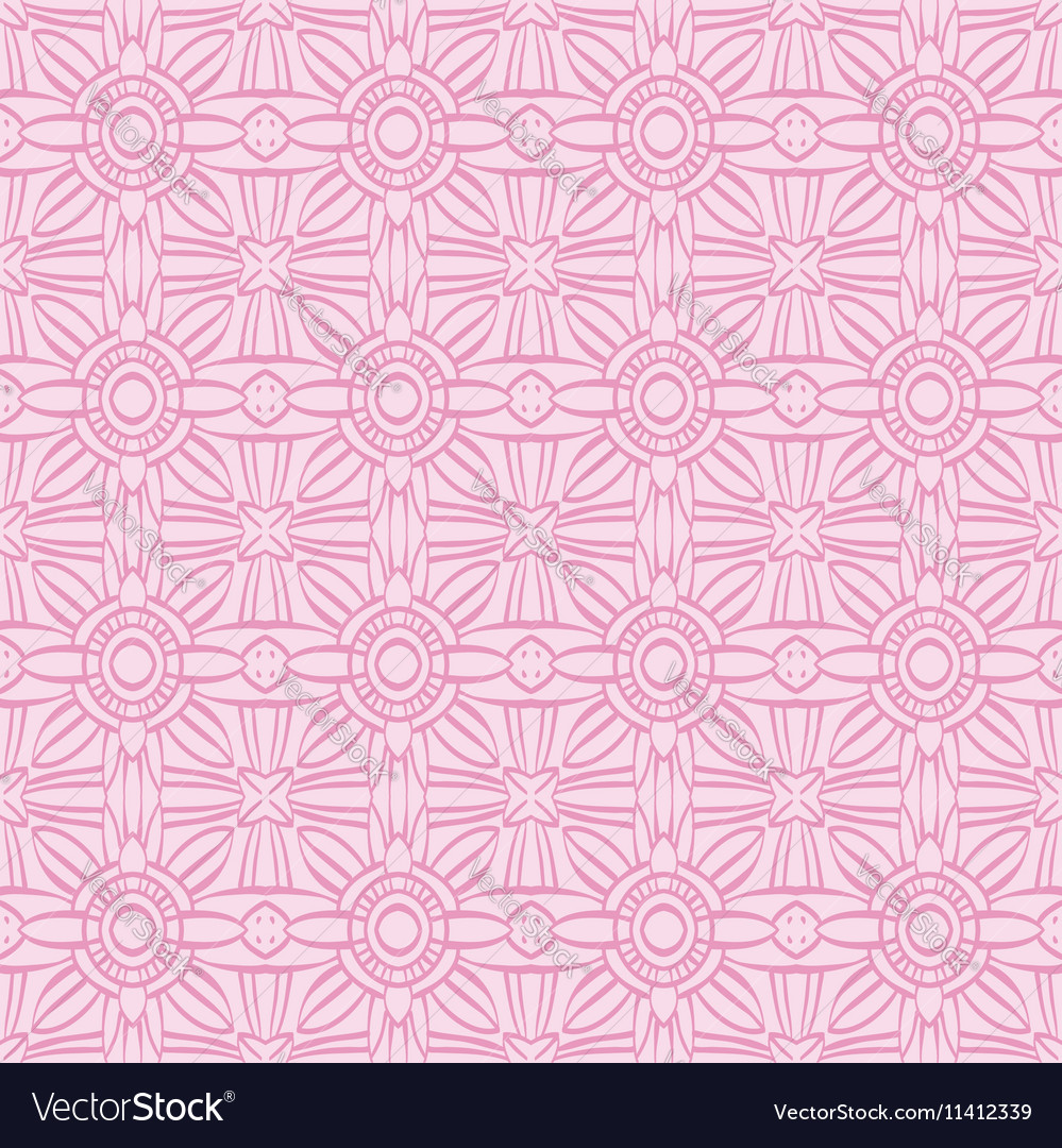 Pink background with seamless pattern