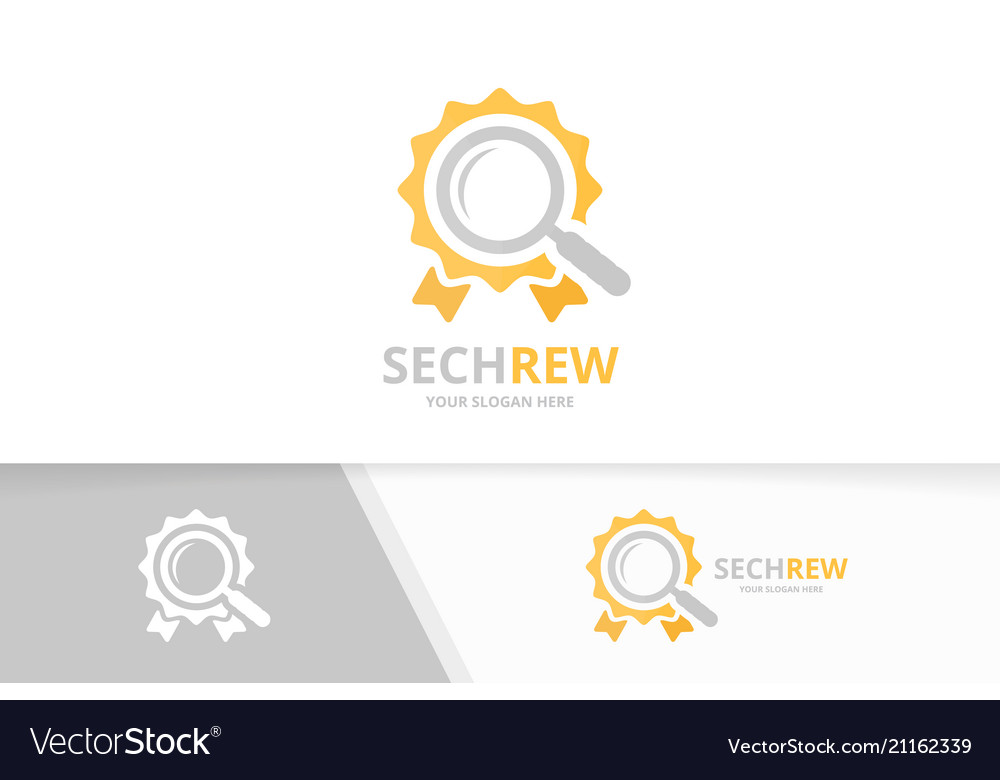 Reward and loupe logo combination trophy