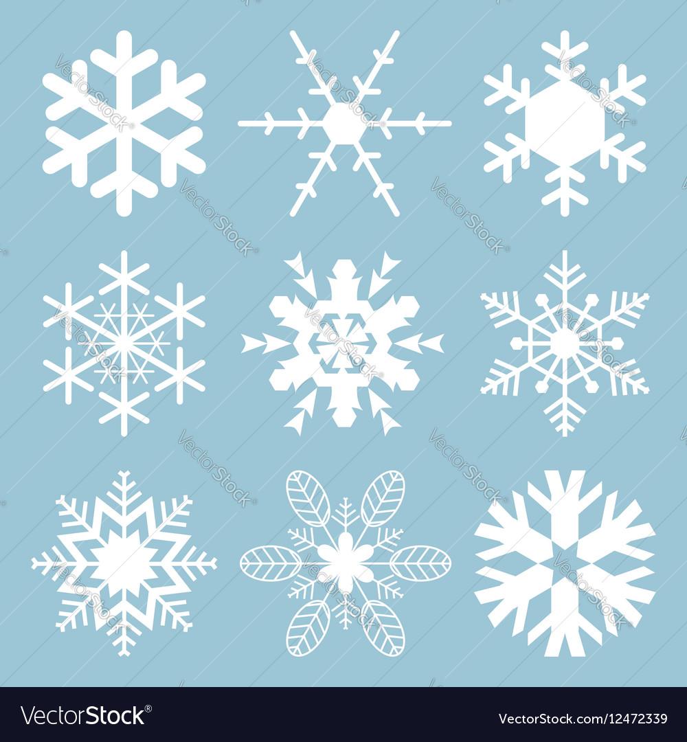 Snowflake icons vector image