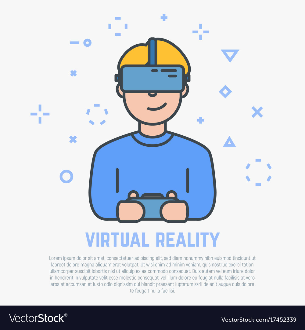 Vr headset and male