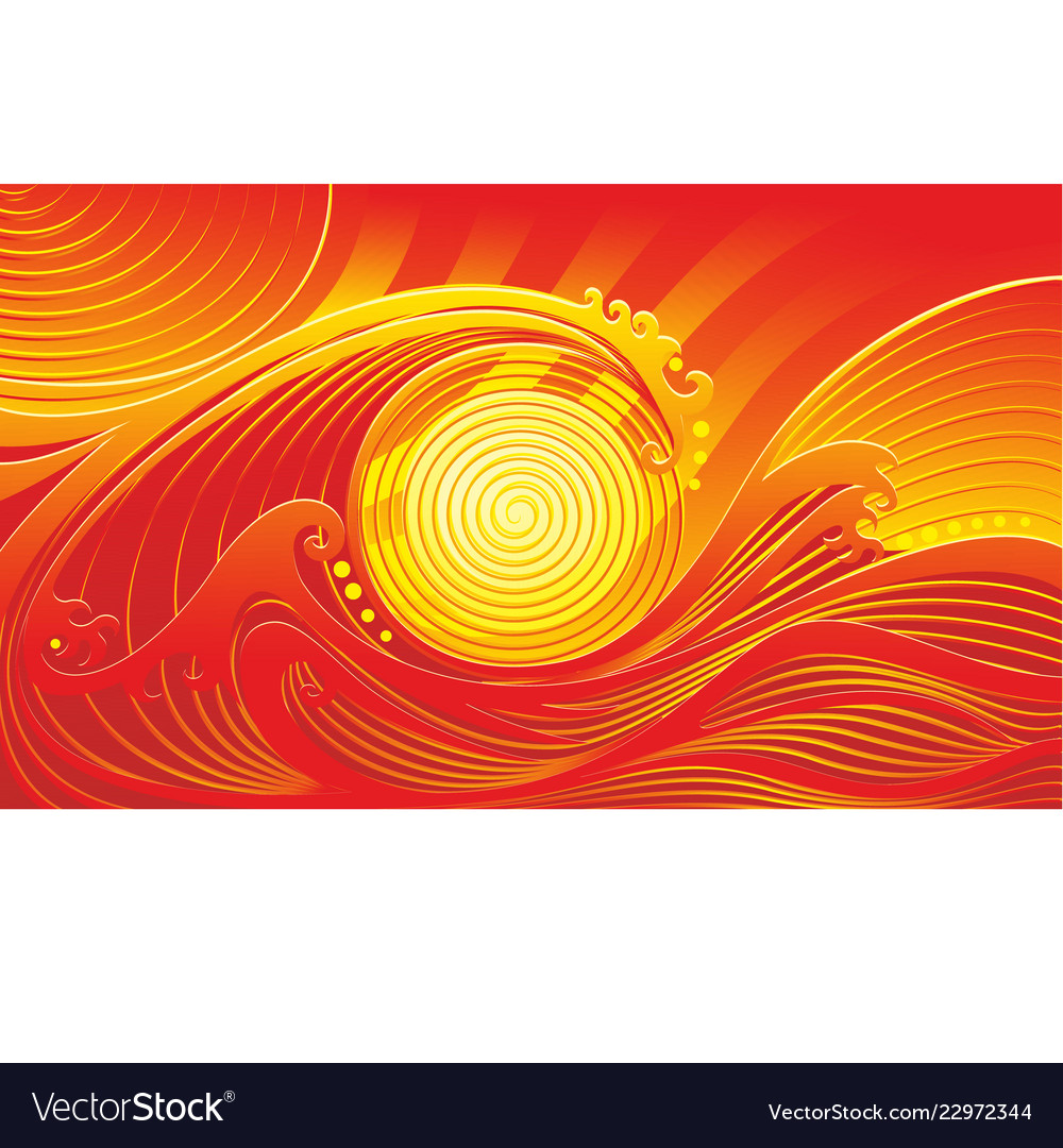 Abstract Red Yellow Wave Background Royalty Free Vector