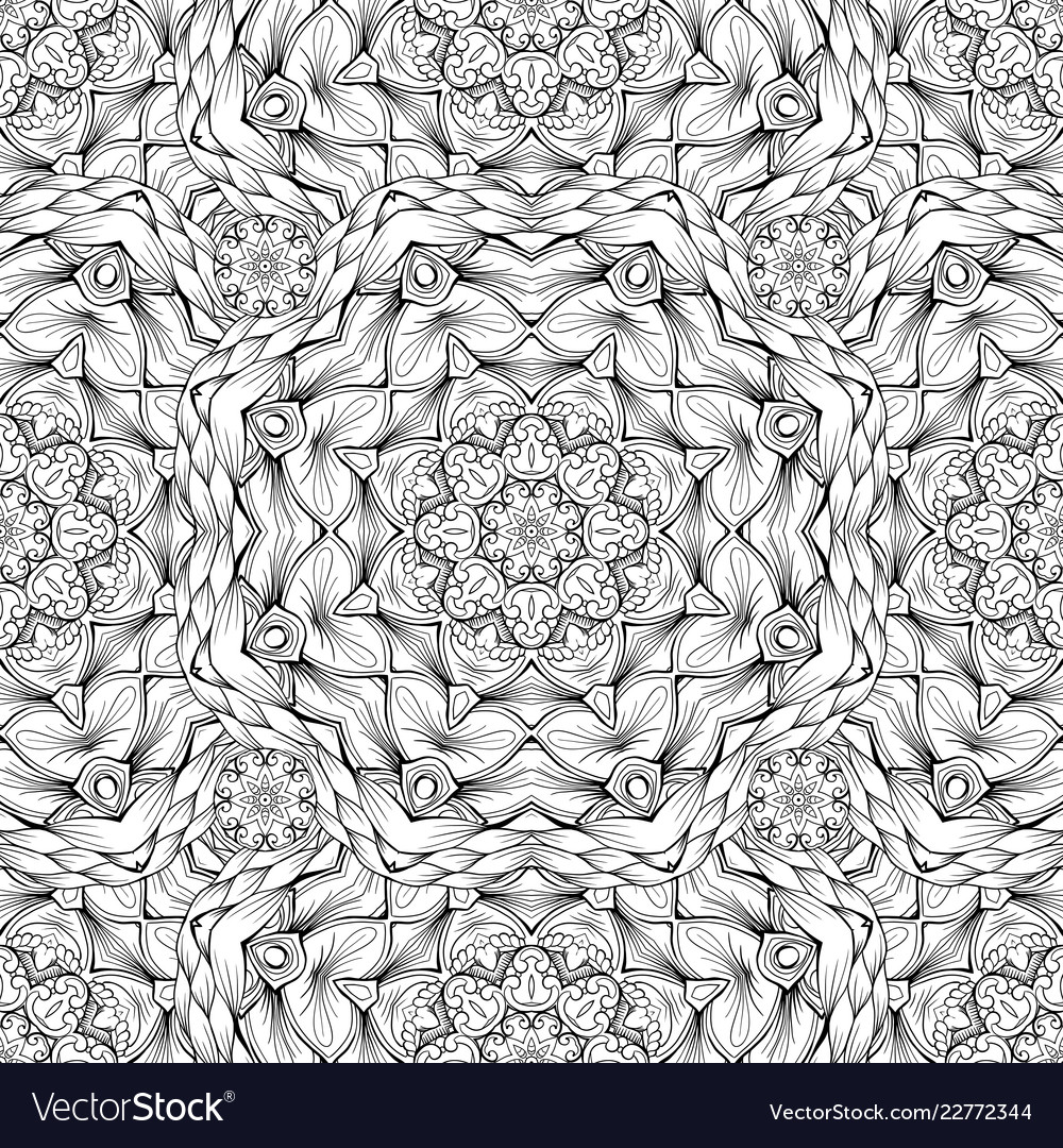Black and white oodles kaleidoscope