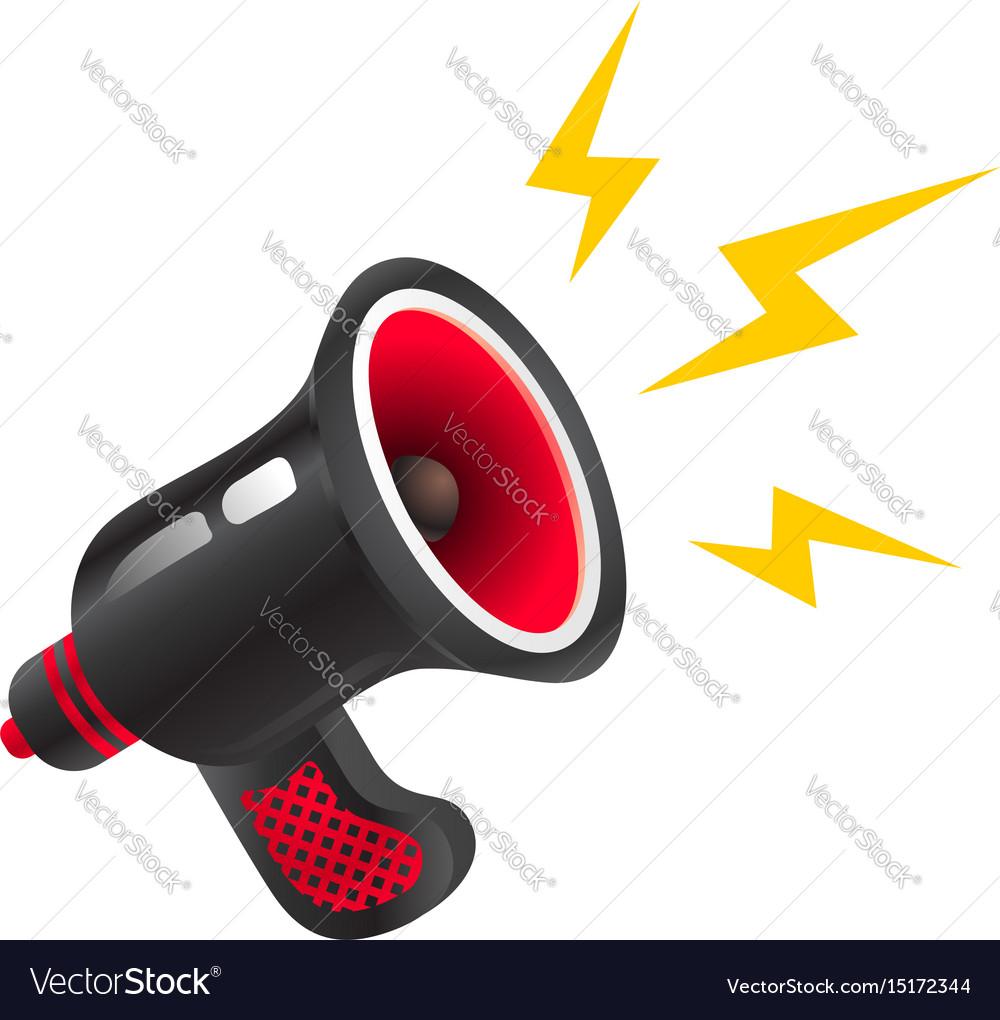 Black retro megaphone vector image