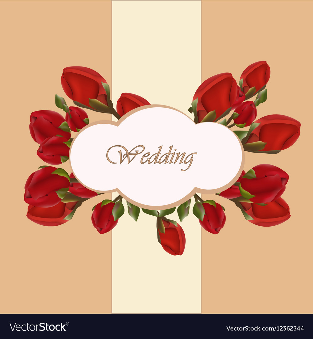 Geranium flower wedding invitation Royalty Free Vector Image