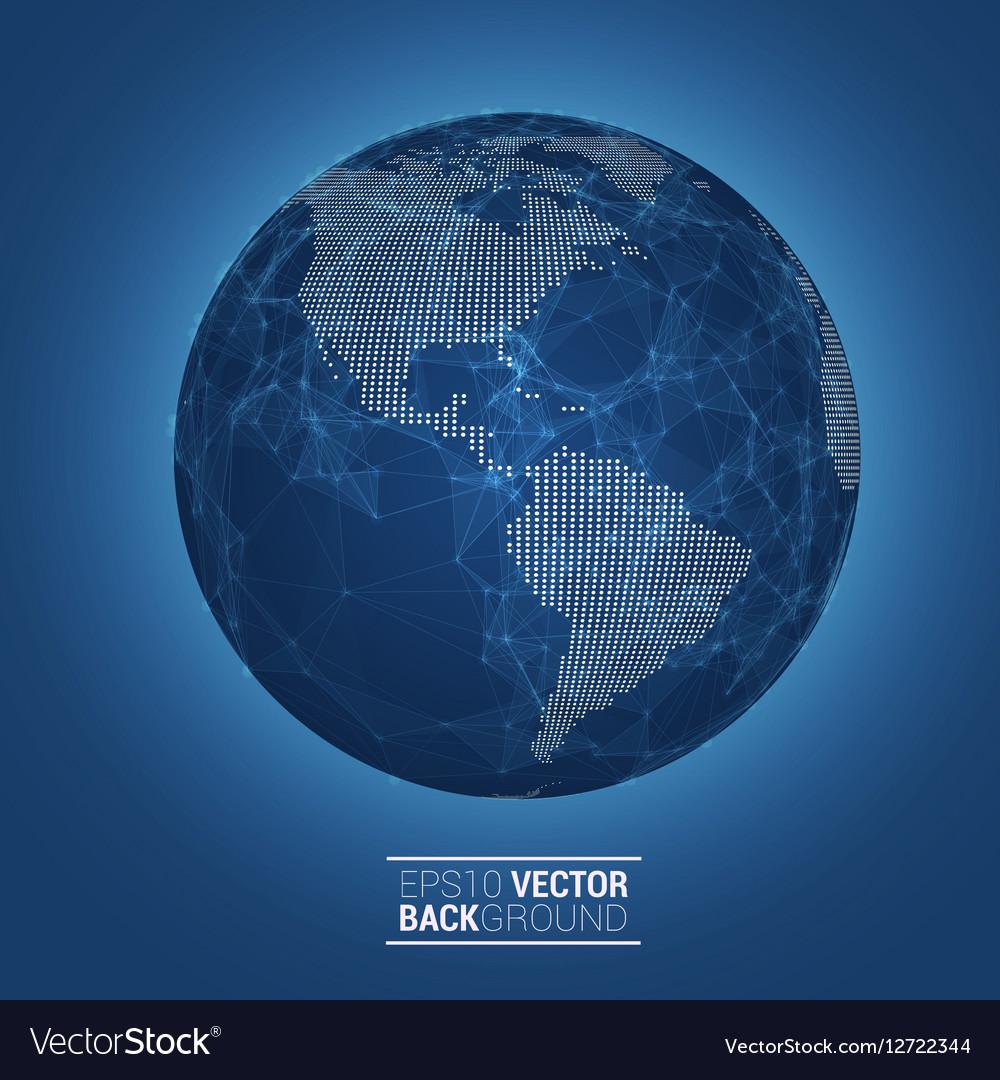 Network globe sphere earth map