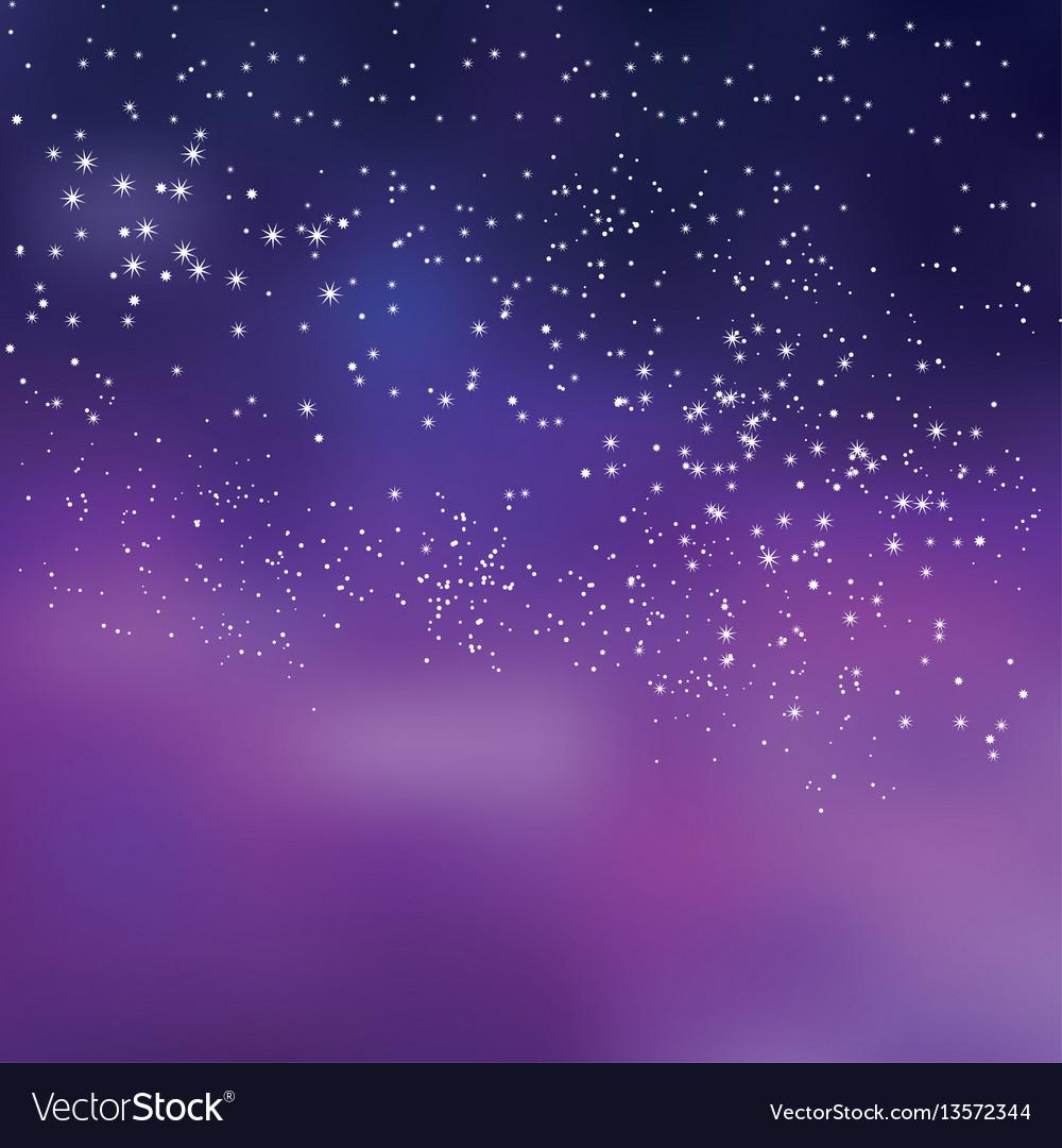 Star sky vector