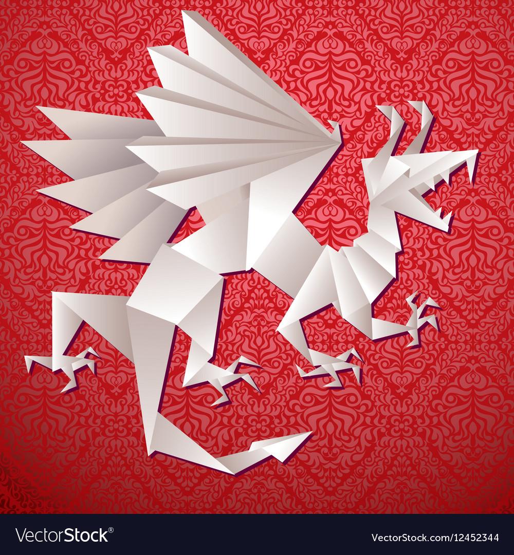 Paper dragon origami