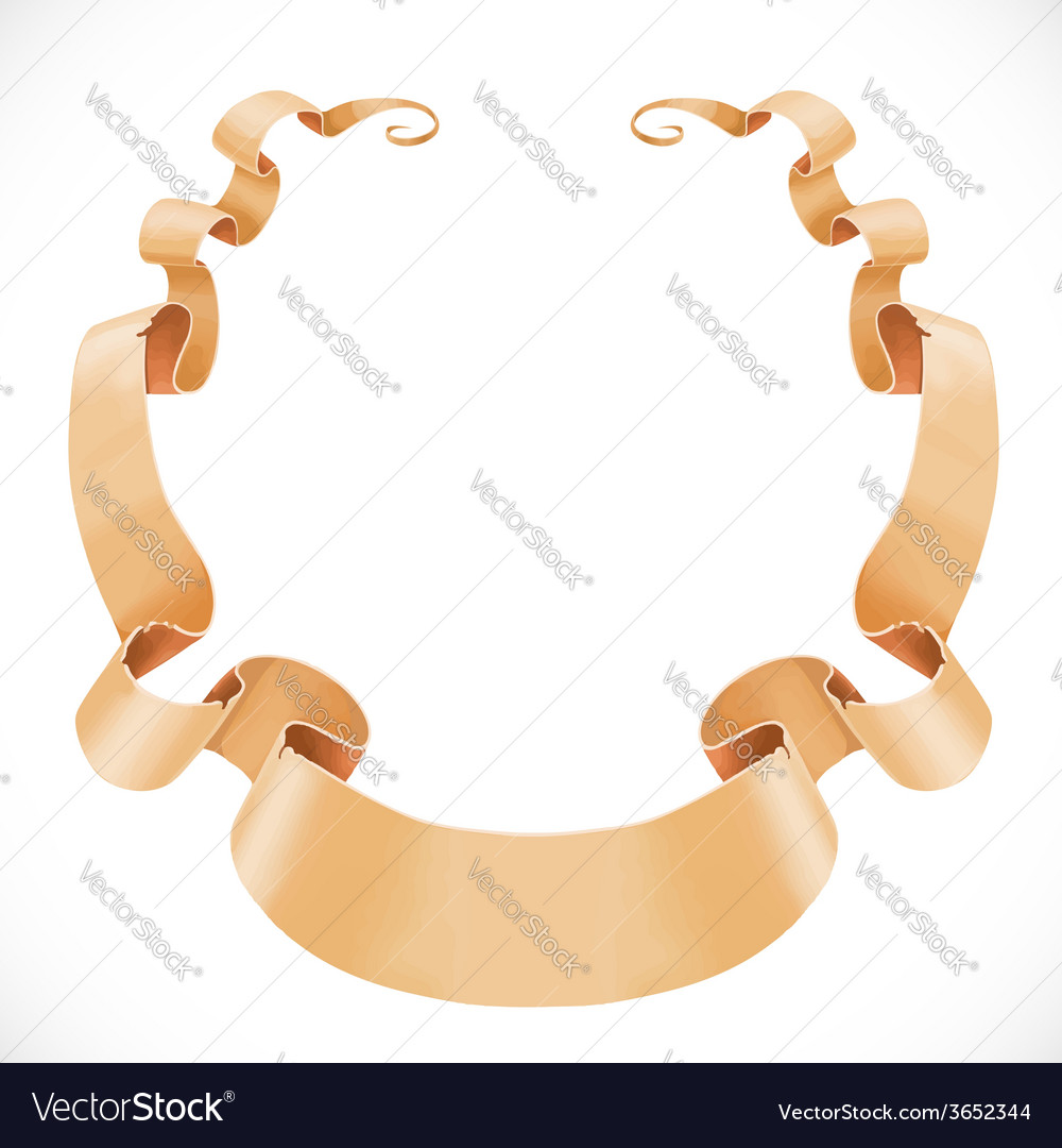 ribbon banner scroll of parchment isolated on a vector image