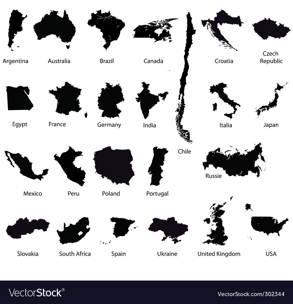 Set of detailed maps vector image