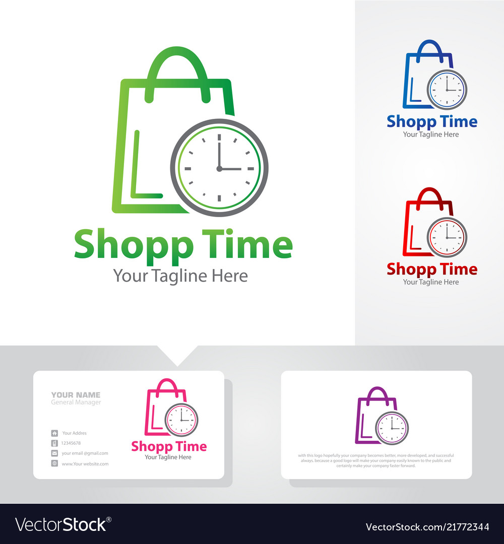 Shop time logo designs