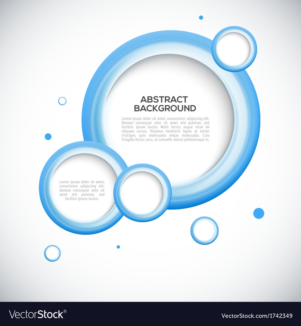 Abstract 3D blue circles background