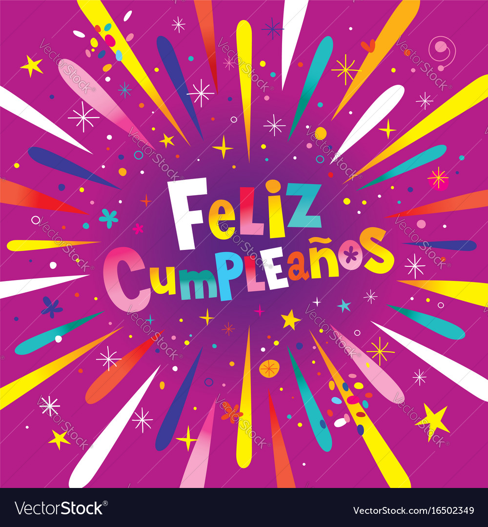 Happy Birthday In Spanish.Feliz Cumpleanos Happy Birthday In Spanish Card