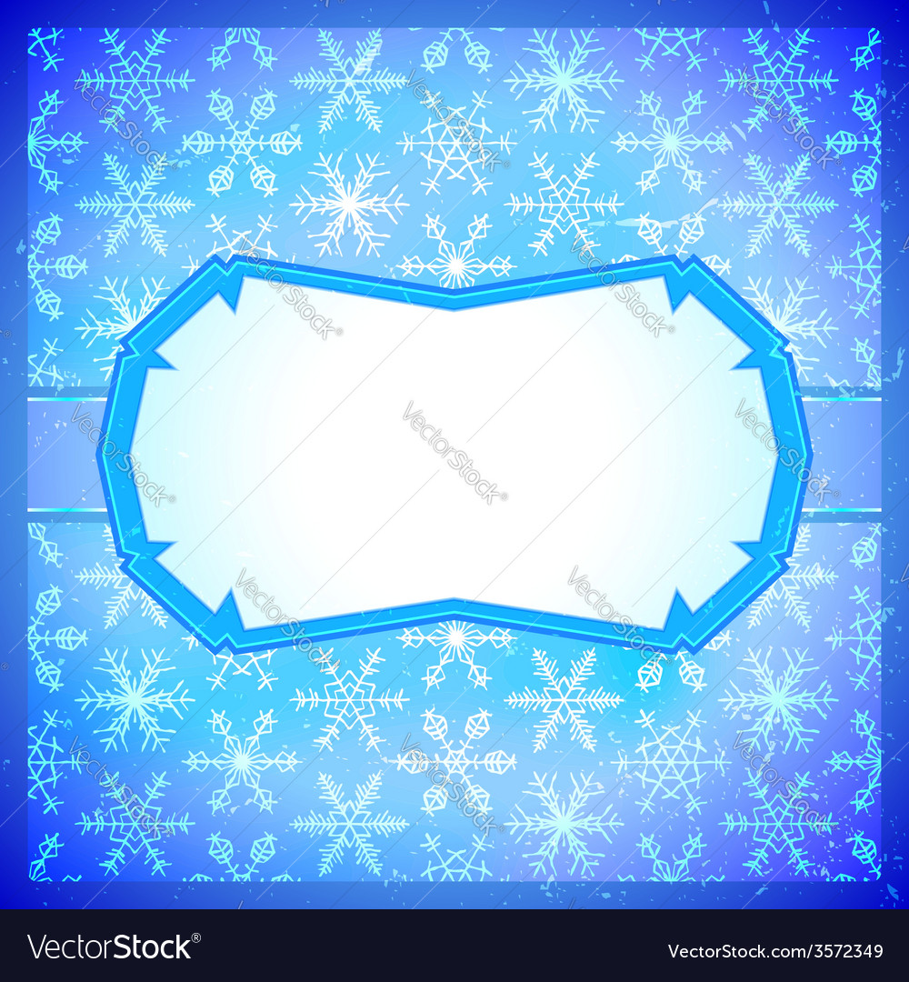 Frozen frame with snowflakes Royalty Free Vector Image