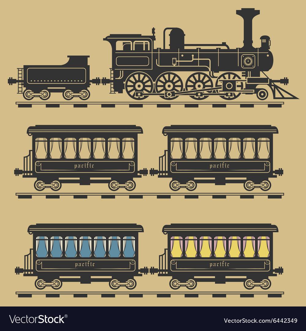 Locomotive train vector image