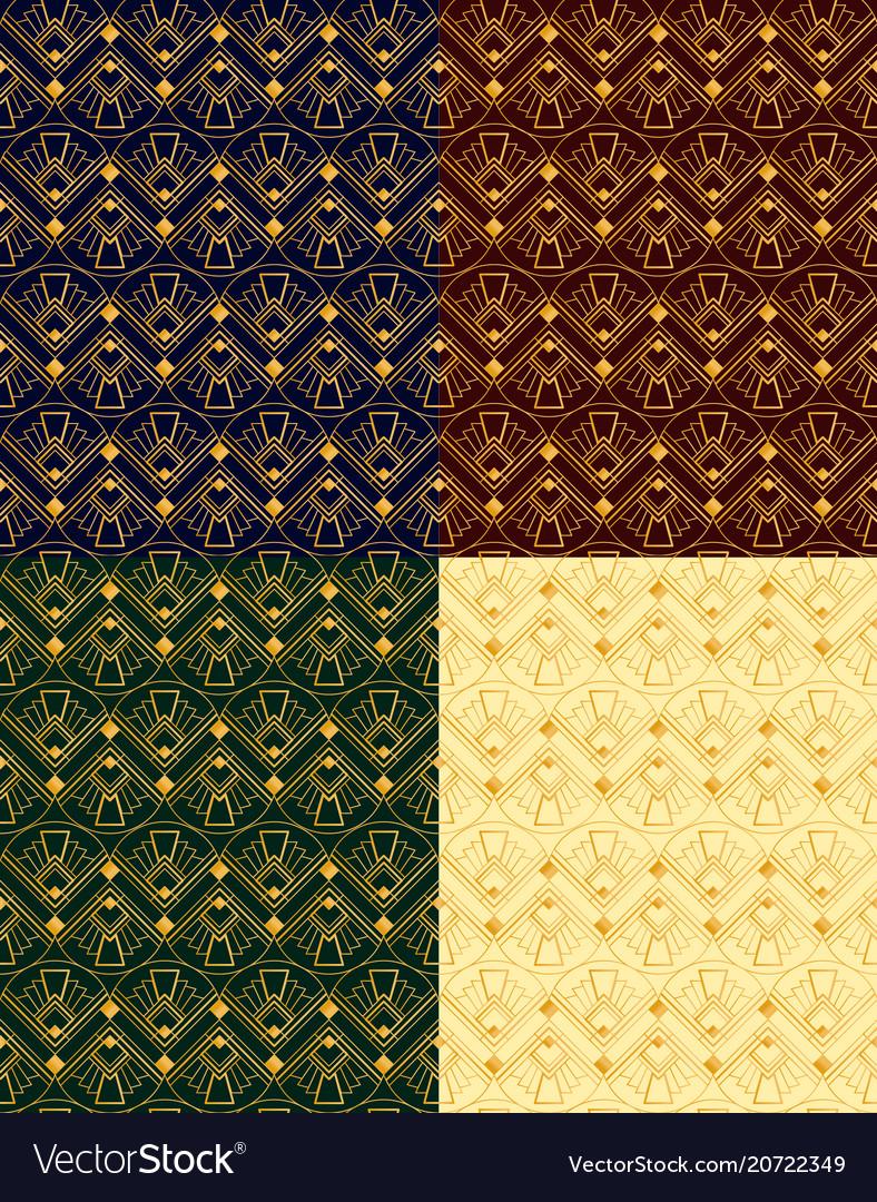 Set of seamless golden