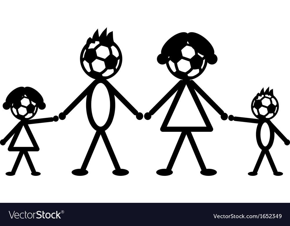 Soccer stick family vector image