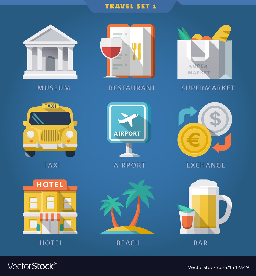 Travel icon set 1