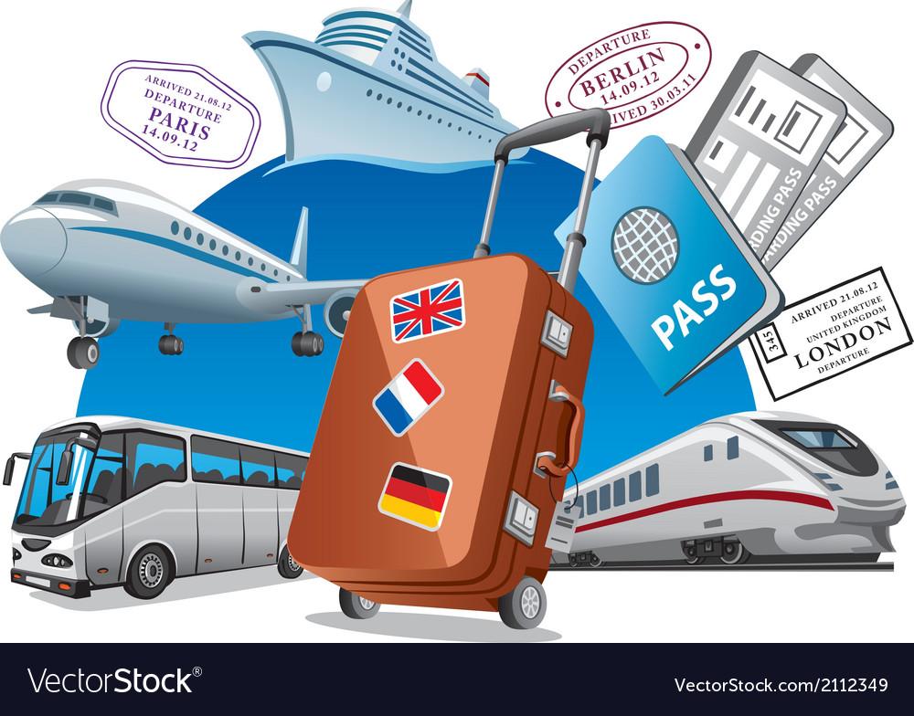 Travel service concept vector image