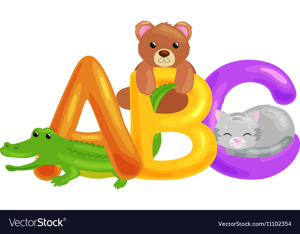 Abc animal letters for school or kindergarten