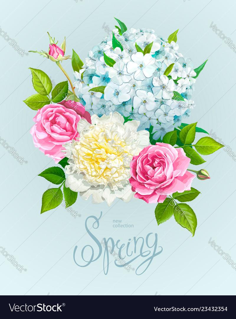 Beautiful spring bouquet