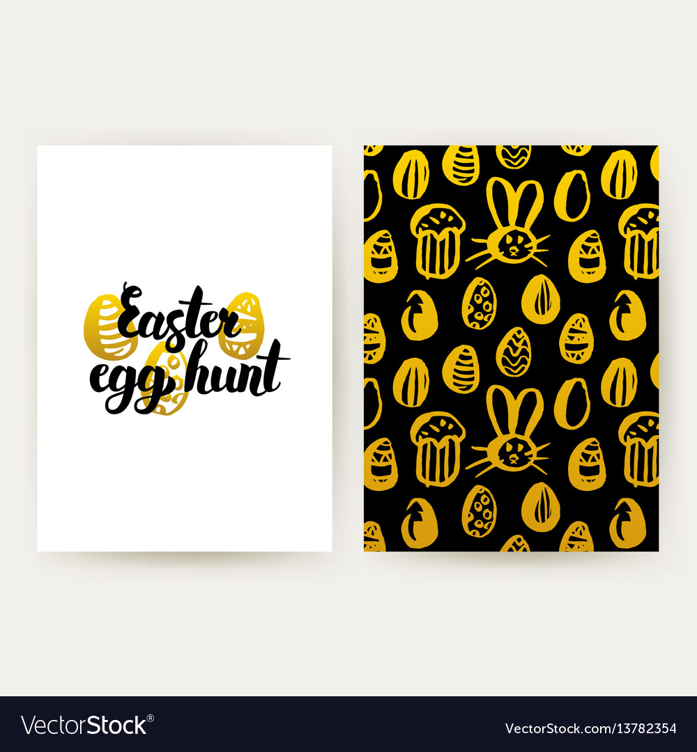 Easter egg hunt trendy posters vector image