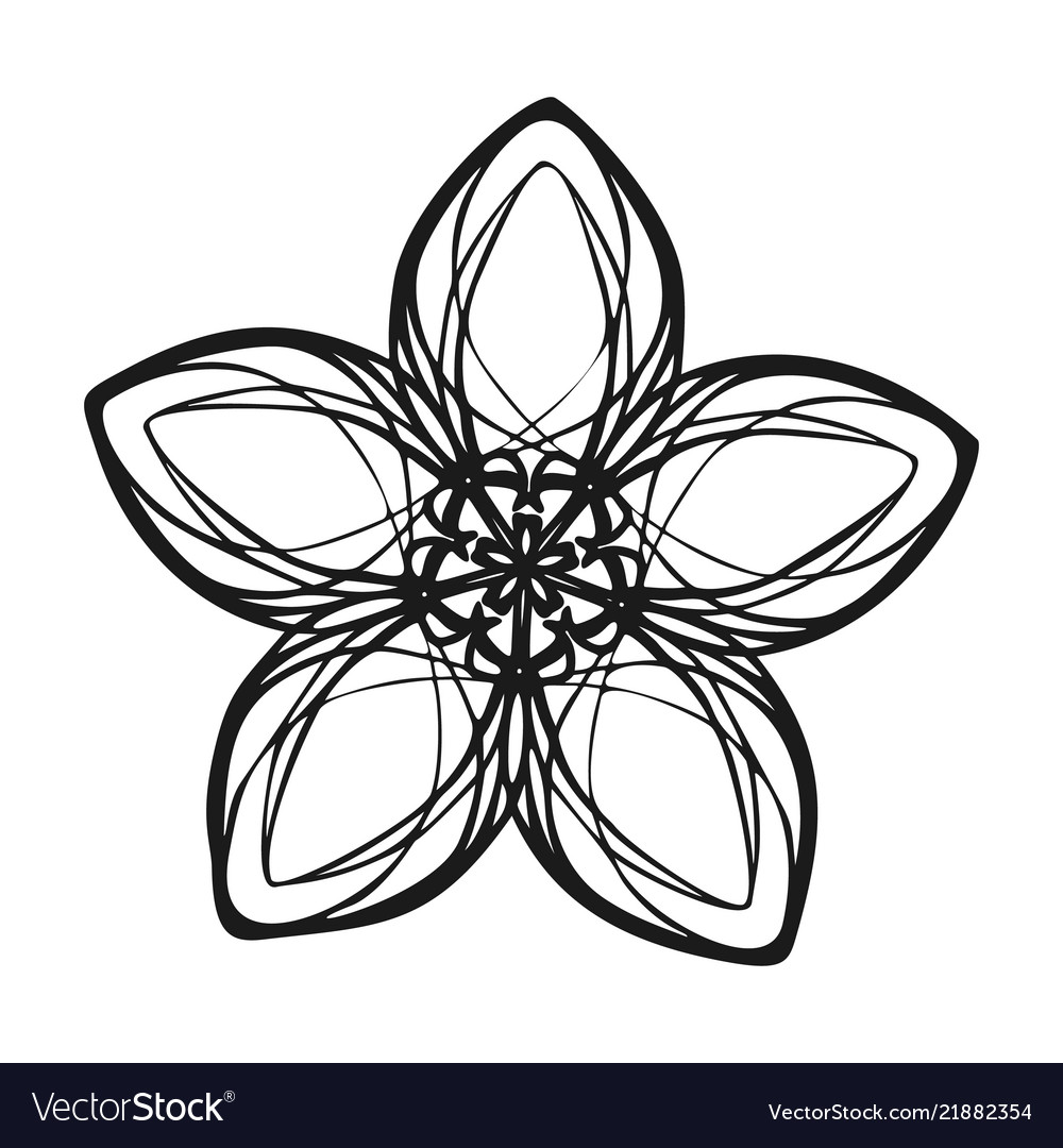 Exotic flower icon simple style