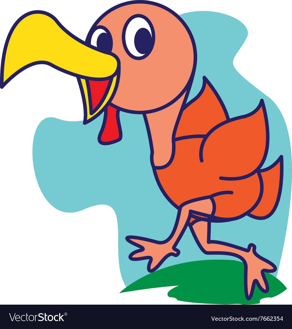 Run Turkey Royalty Free Vector Image - VectorStock