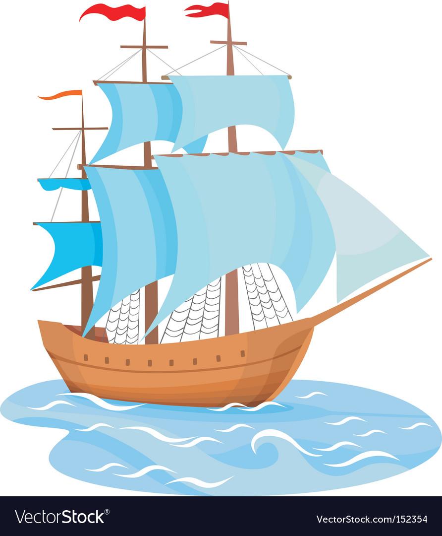 sailing ship royalty free vector image vectorstock rh vectorstock com ship vector art ship victory