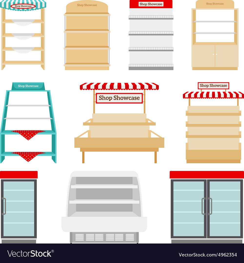 Store shelves or shop showcases
