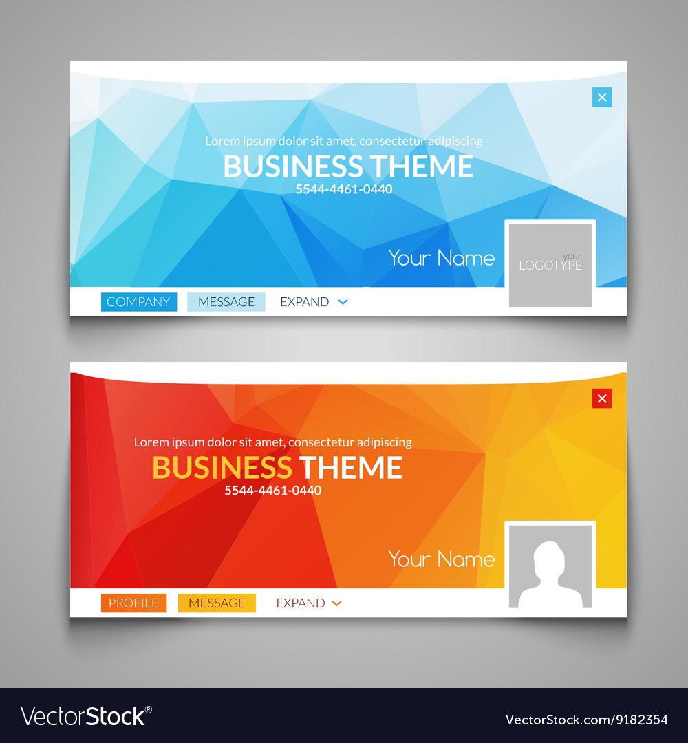 Web business site design Header Layout Template