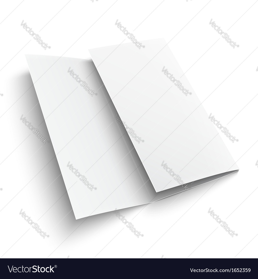 blank trifold paper brochure royalty free vector image
