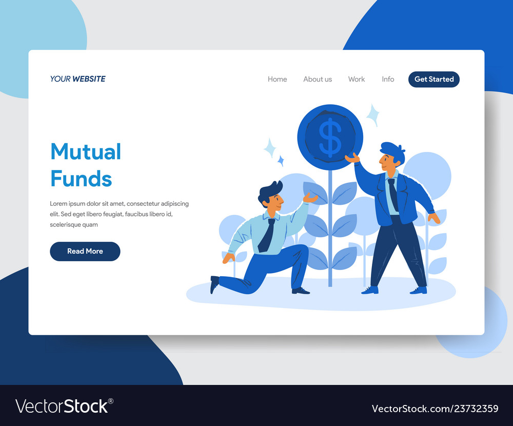 Businessman and mutual funds concept
