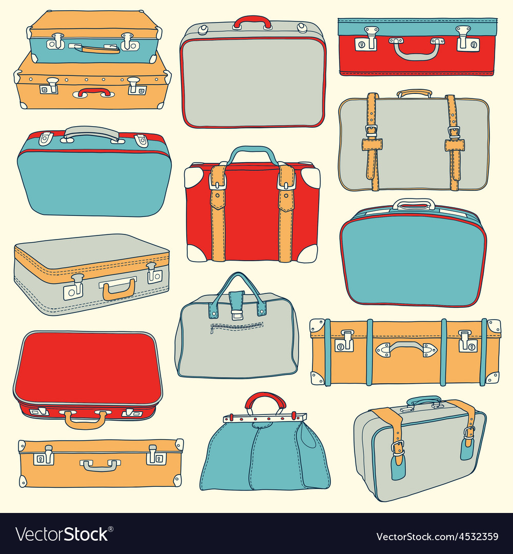 Collection vintage suitcases