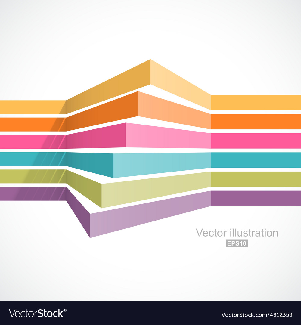 Colorful horizontal lines in perspective
