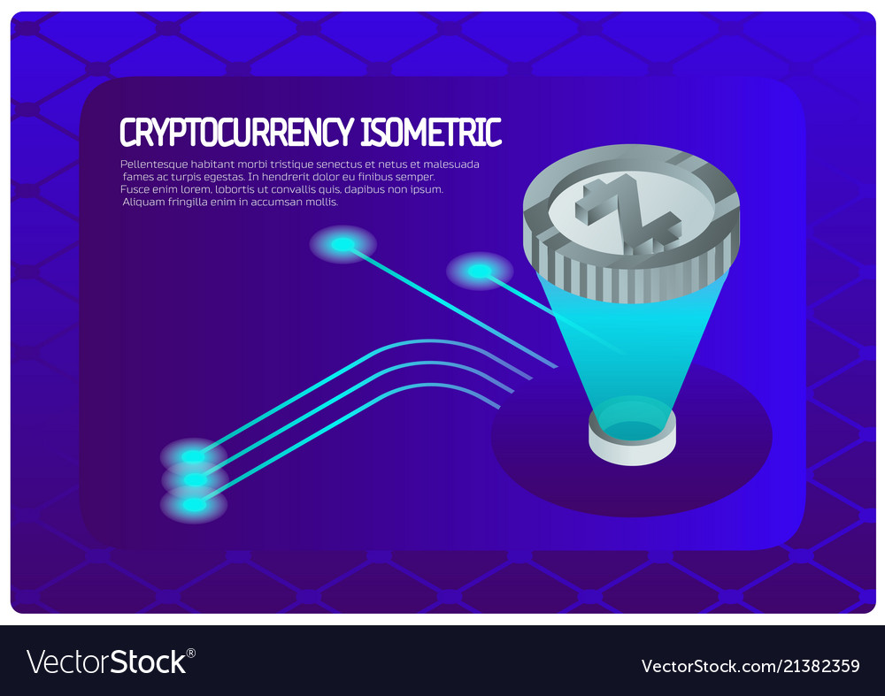 Crypto color isometric banner