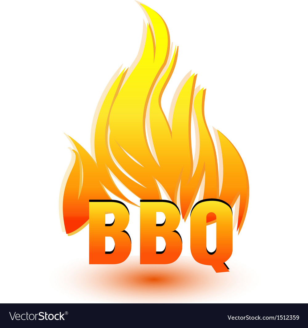 Hot barbecue logo