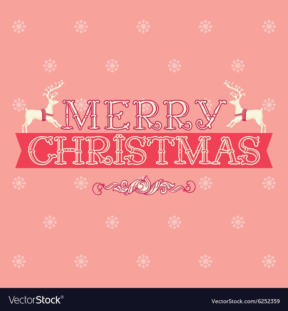 Merry Christmas card greeting