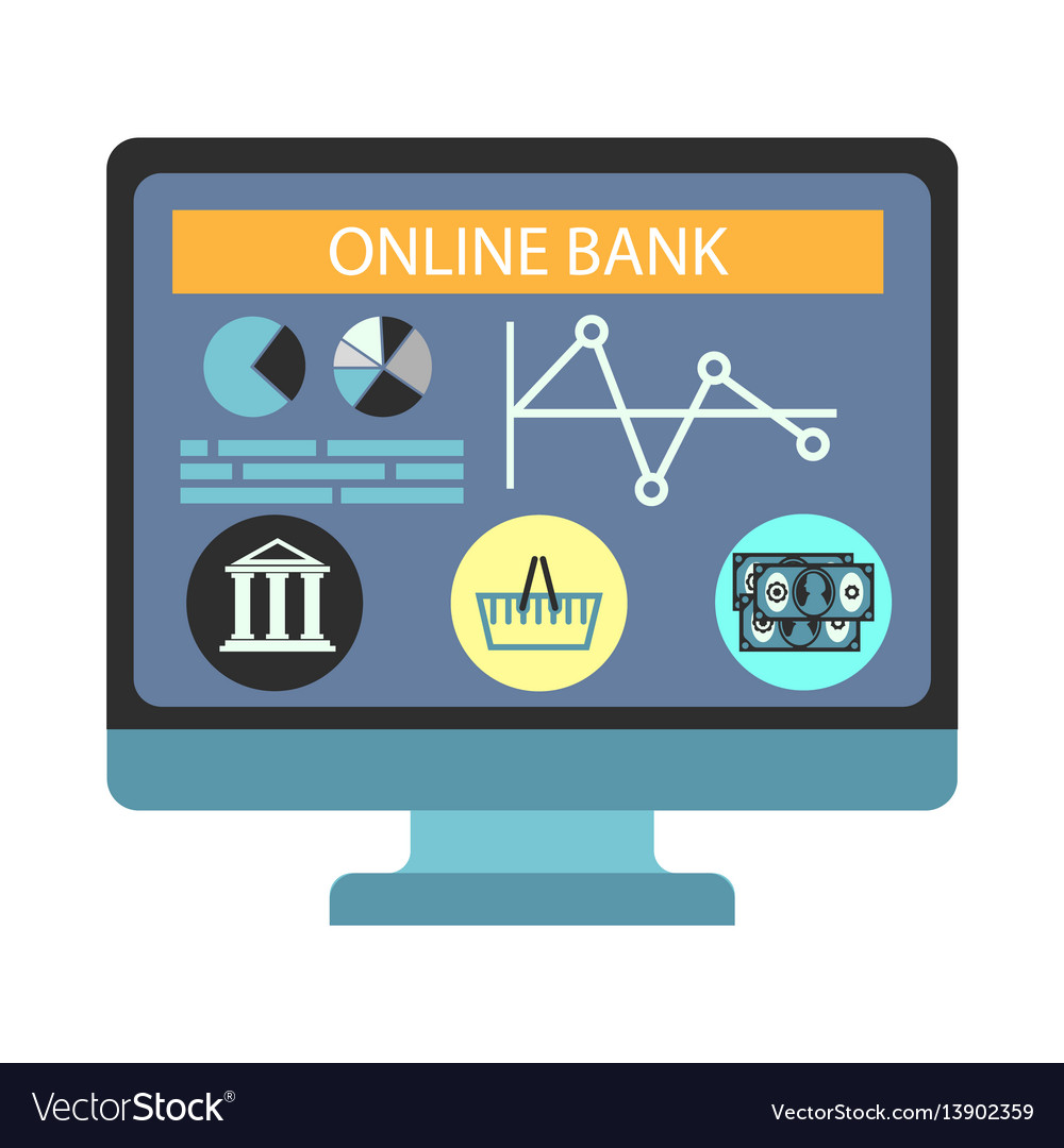 Online banking payment computer monitor