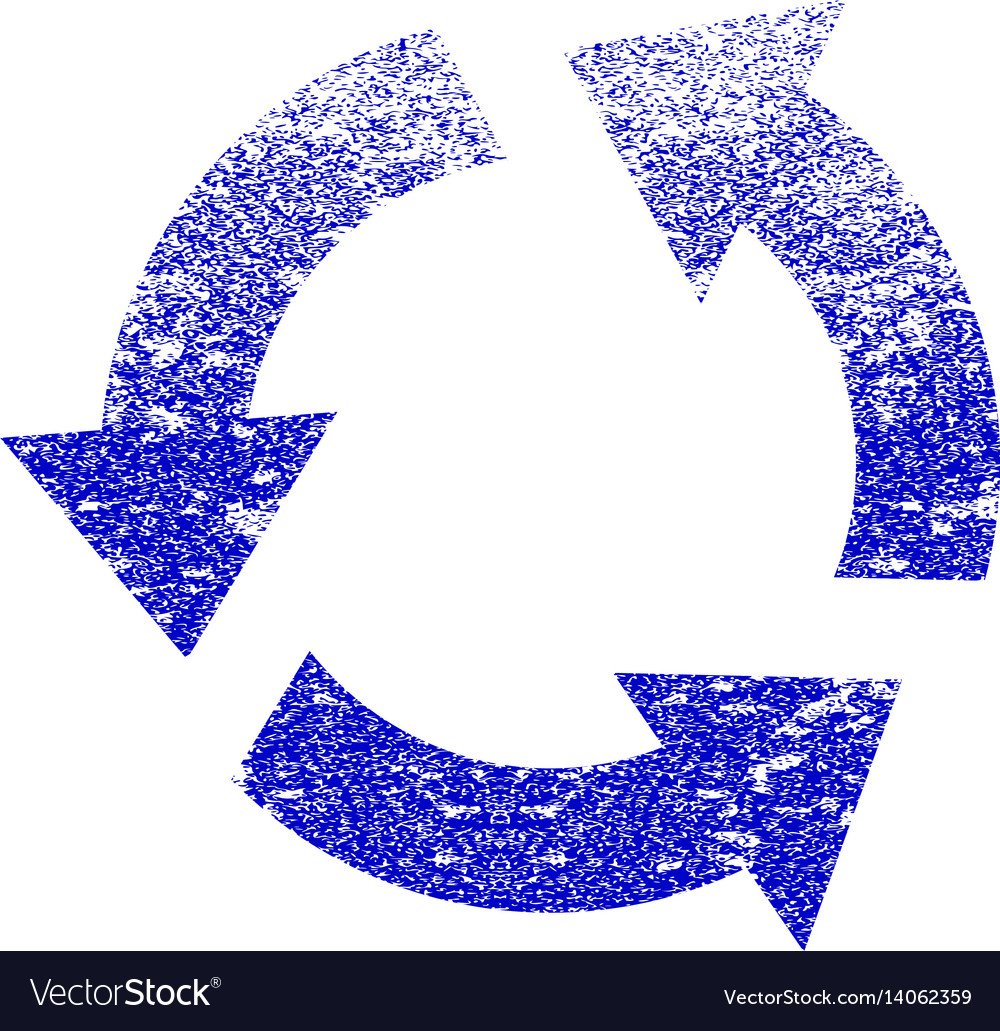 Recycle grunge textured icon