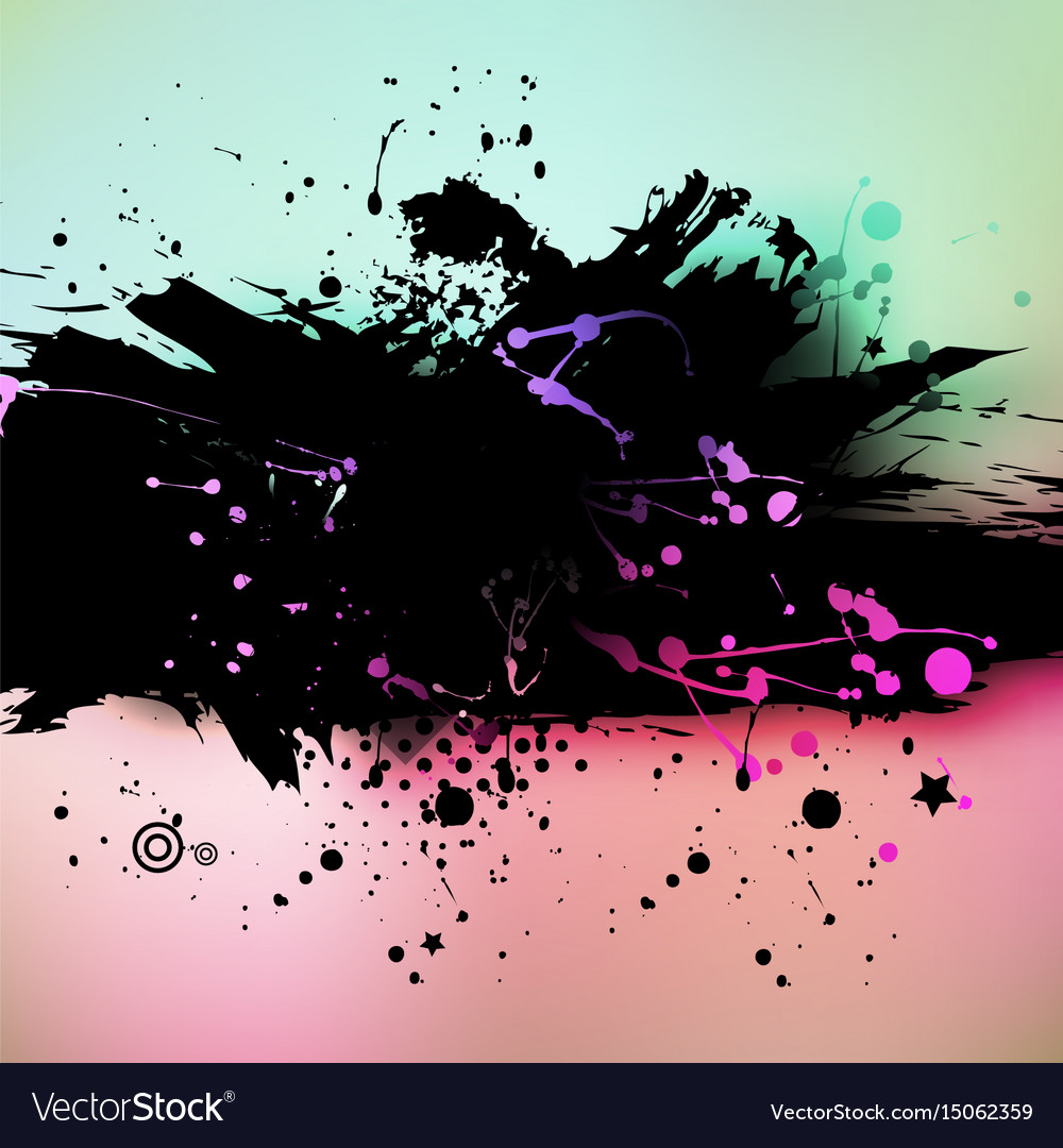 Watercolor grunge colorful banner background