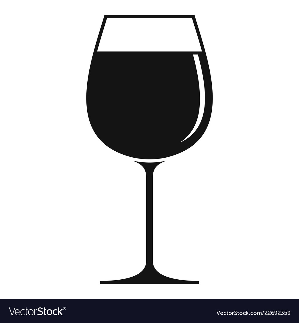 Wine Glass Icon Simple Style Royalty Free Vector Image