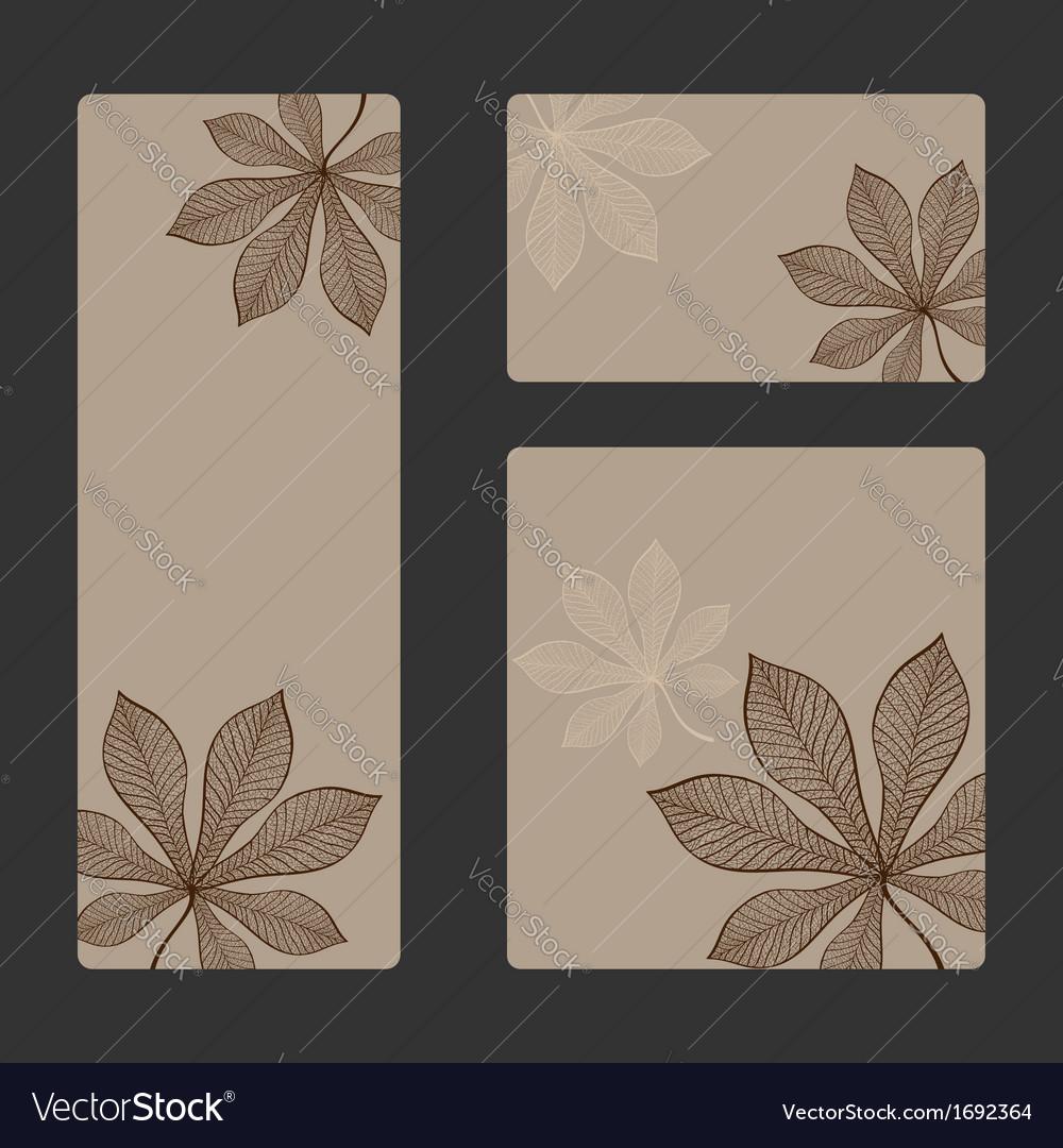 Autumn sticker set