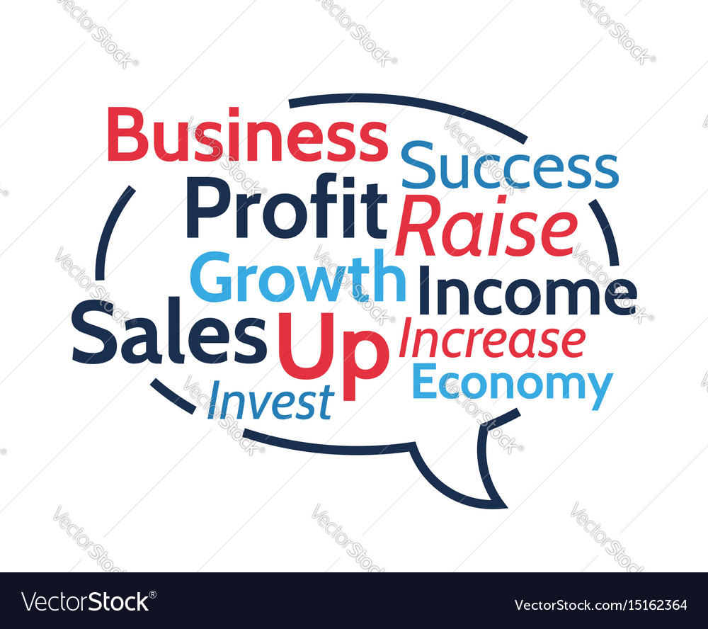 Hand is pointing on business word collage