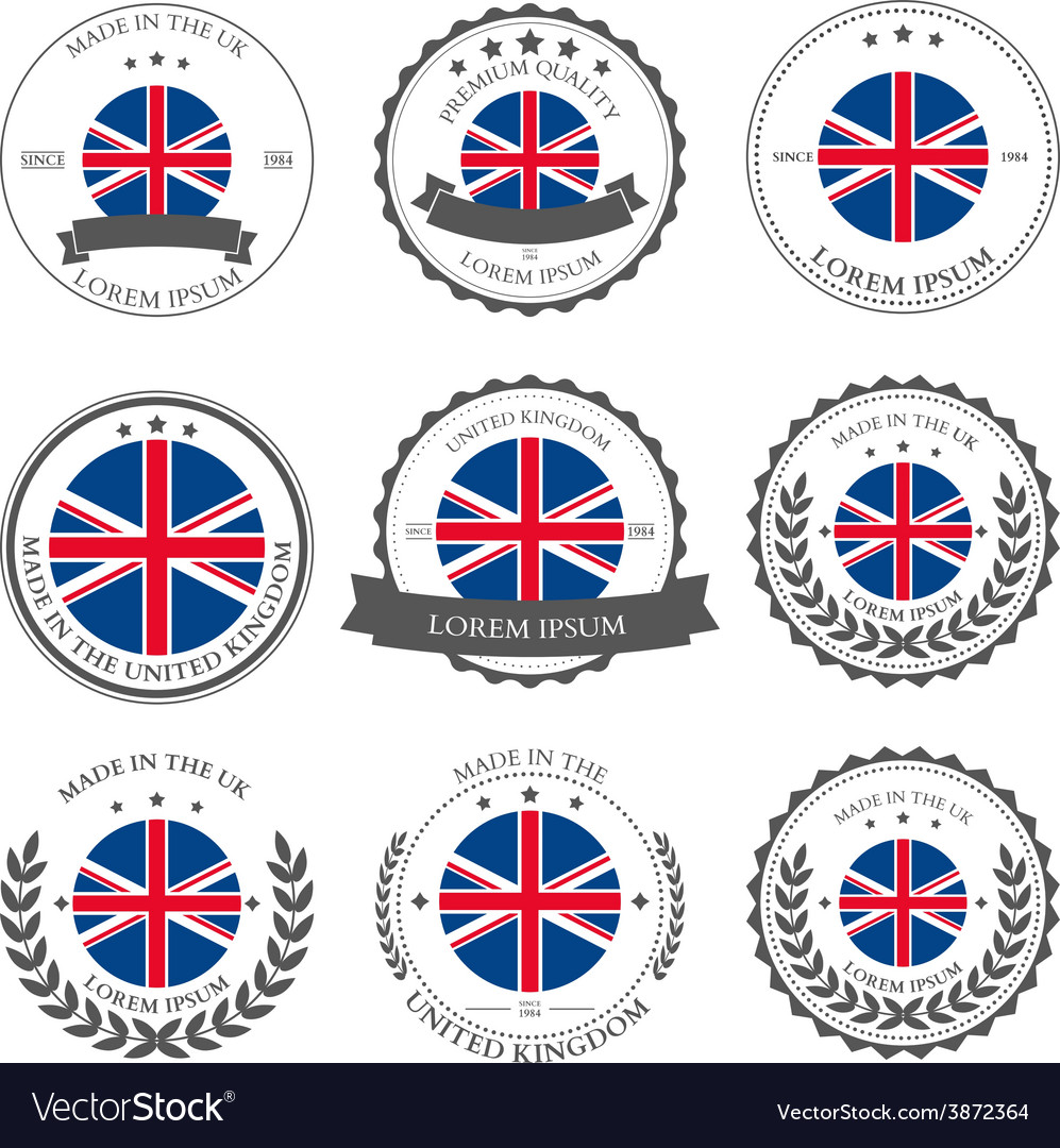 Made in the UK seals badges