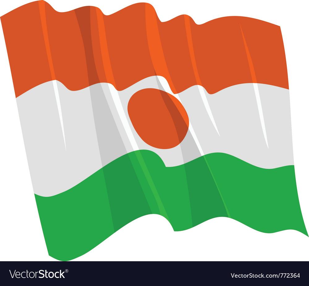 Political waving flag of niger