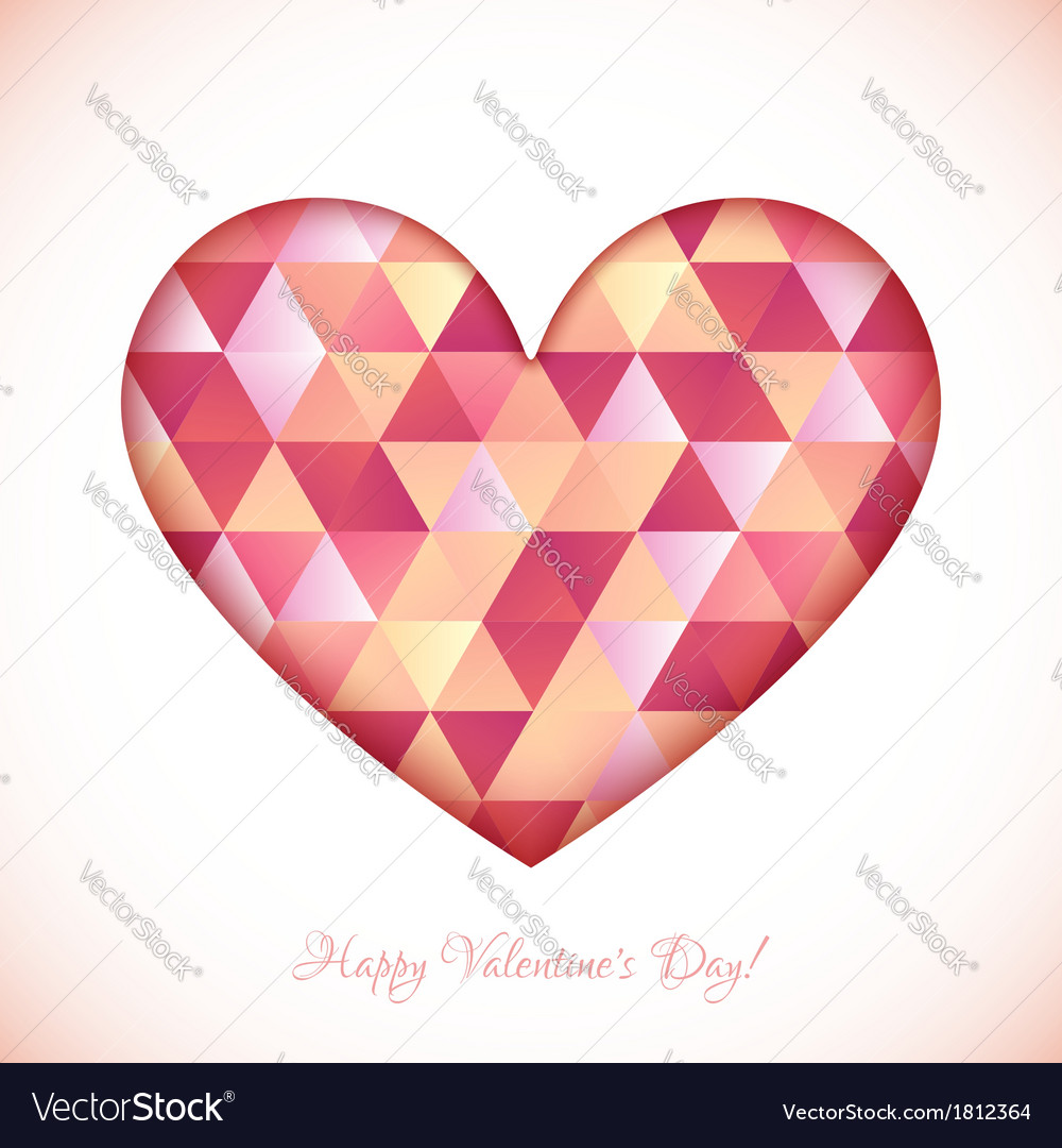Red diamond triangles texture heart