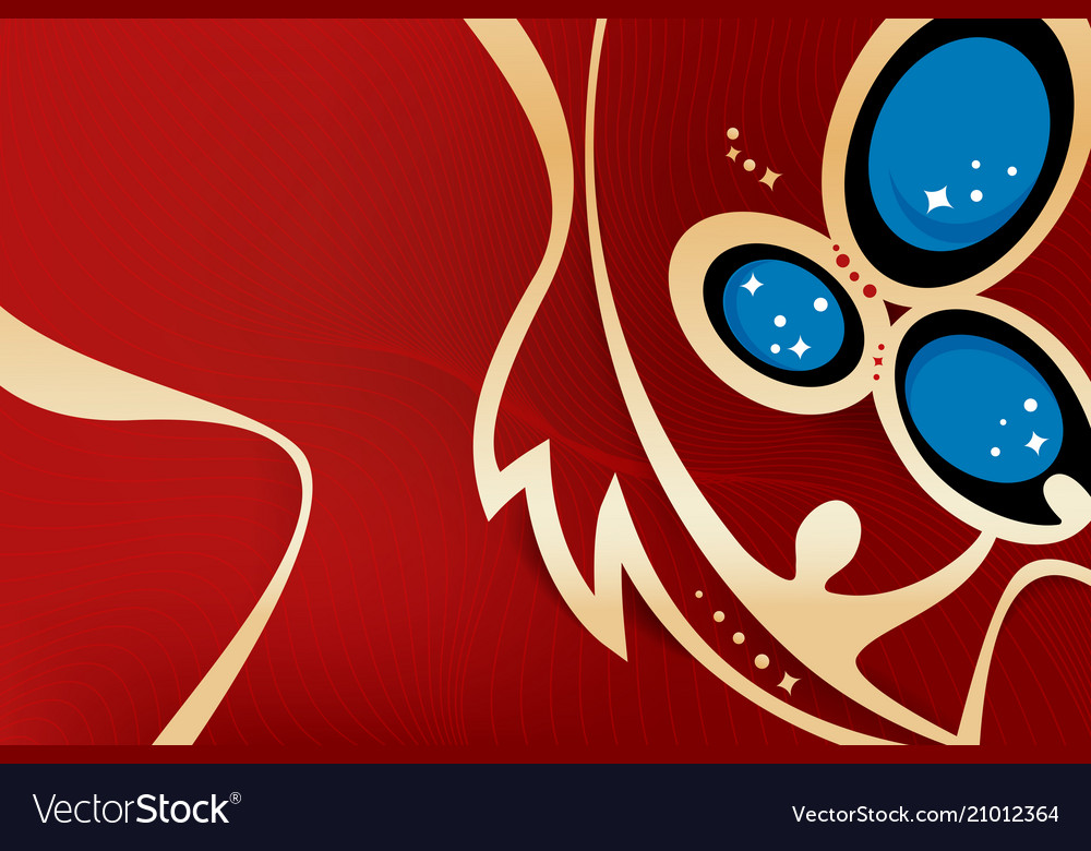 Russian gold and red background world cup 002 vector image