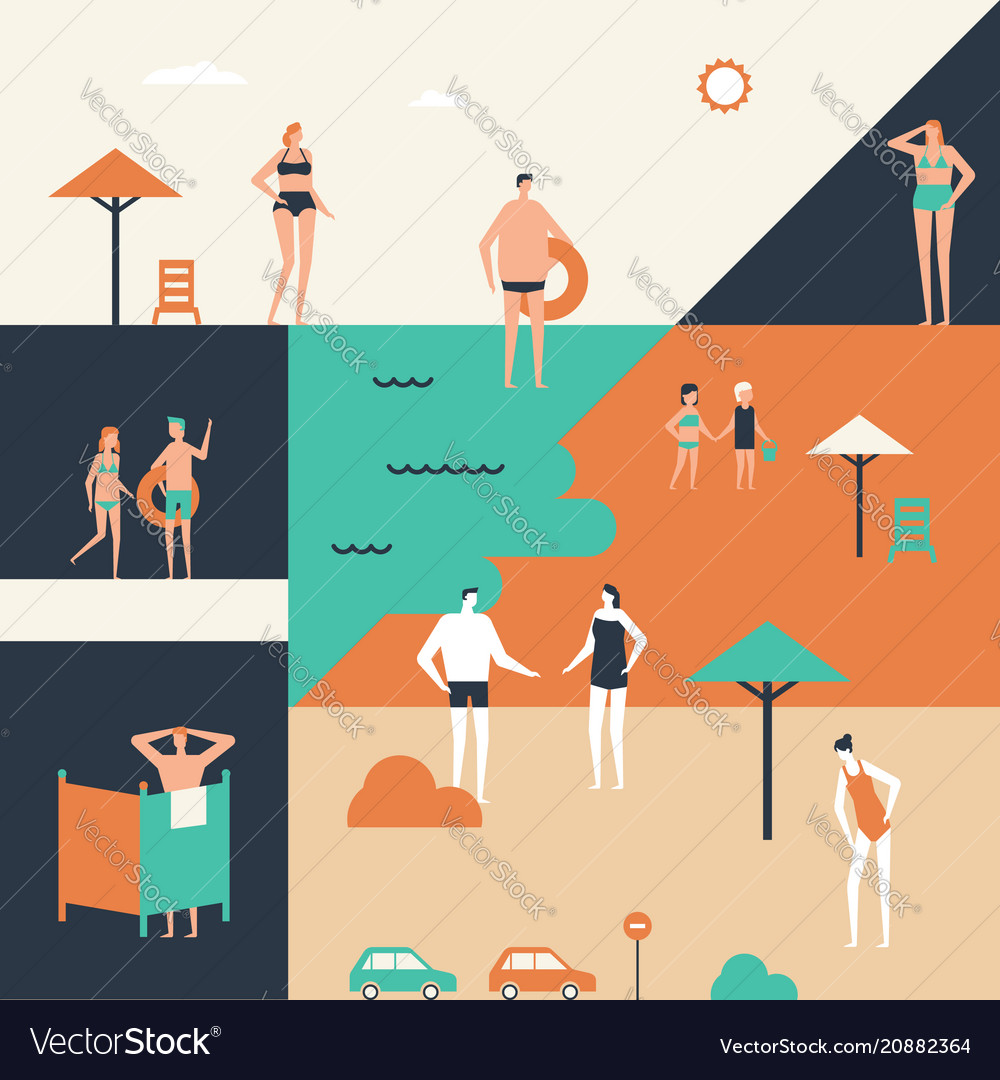 Summer holiday - flat design style