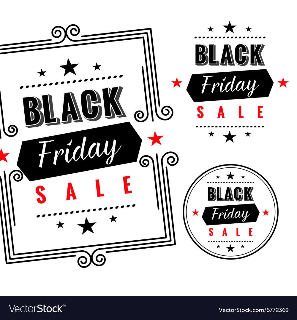Black friday sale badges and labels